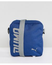 PUMA - Pioneer Flight Bag In Blue 07471702 - Lyst