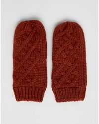 French Connection - Cable Knit Gloves - Lyst