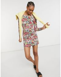 Warehouse Crowded Floral Dress - Multicolour