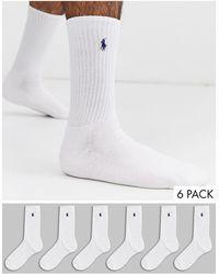 Polo Ralph Lauren 6 Pack Socks - White