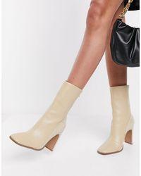 ASOS – Evident – Gespleißte Stiefel - Mehrfarbig
