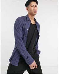 Paul Smith Camisa de sastre de manga larga a cuadros de - Azul