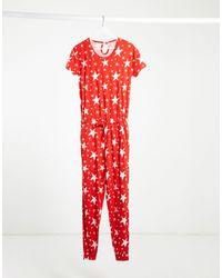 Chelsea Peers Pyjamaset Met Sterrenprint - Rood