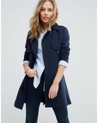 Abercrombie & Fitch - Abercrombie & Fitch Soft Trench Coat - Lyst