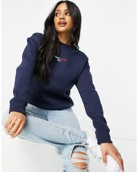 Tommy Hilfiger Logo Linear Crew Neck Sweatshirt - Blue