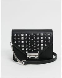 ASOS Boxy Cross Body Bag With Studs - Black