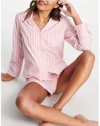 ASOS Pijama rosa a rayas rojas - Naranja