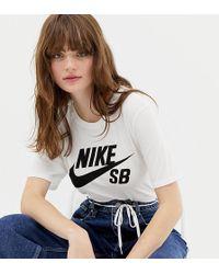 Nike - {[#0]}-{[#1]} - T-shirt bianca con logo - Lyst