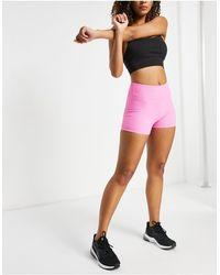 South Beach Розовые Облегающие Короткие Шорты В Рубчик Для Фитнеса -розовый Цвет