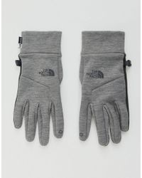 The North Face - Etip Gloves In Grey - Lyst