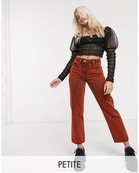 Collusion X012 Petite Straight Jeans - Red