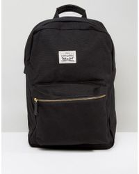 Levi's | Levi's Canvas Backpack In Black | Lyst