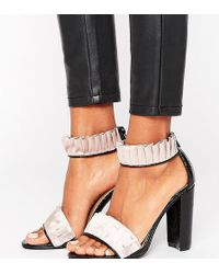 The March - Ruffle Block Heeled Sandals - Lyst