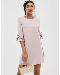 UNIQUE21 - Dress With Bow Detail - Lyst