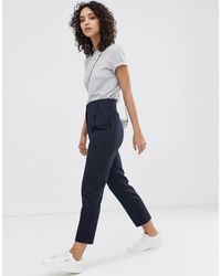 Finery London Oliver Linen Blend Trousers - Blue