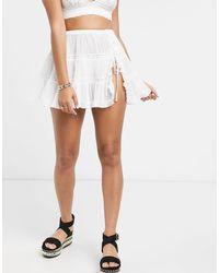 ASOS Rara Beach Skirt - White