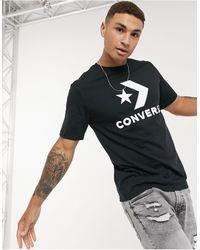 Converse Star Chevron Large Logo T-shirt - Black
