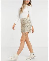 Pull&Bear Dot Print Mini Skirt - Multicolour