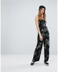 New Look - Floral Strappy Jumpsuit - Lyst