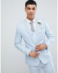 ASOS Wedding Super Skinny Suit Jacket - Blue