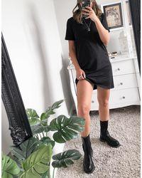 ONLY – T-Shirt-Kleid - Schwarz