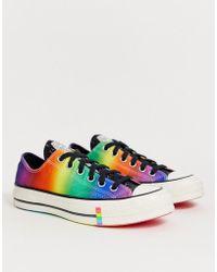 Converse - Pride Chuck '70 Lo Rainbow Black Glitter Trainers - Lyst