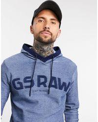 G-Star RAW Трикотажный Джемпер С Капюшоном Gsraw-синий
