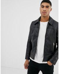 Bolongaro Trevor - Slim Fit Leather Jacket - Lyst
