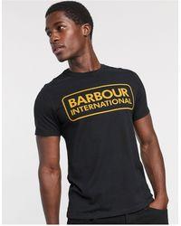 Barbour Черная Футболка С Крупным Логотипом -черный Цвет - Многоцветный