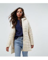 Vero Moda - Padded Faux Fur Belted Parka - Lyst