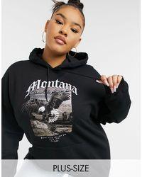 Missguided - Hoodie à imprimé graphique Montana - Lyst