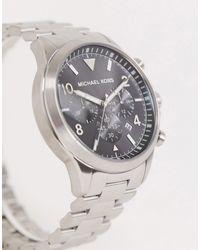 Michael Kors Gage Silver Chronograph Bracelet Watch Mk8826 - Metallic