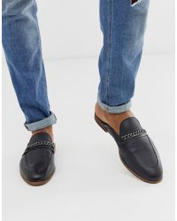 KG by Kurt Geiger - Kg By Kurt Geiger Backless Leather Loafer In Black - Lyst
