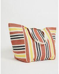 Bershka - Oversized Striped Bag In Multi - Lyst