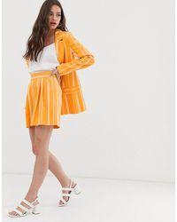 ASOS Yellow Stripe Suit Shorts - Orange