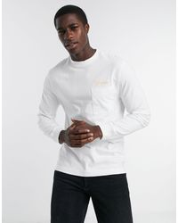 River Island Long Sleeved Skater T-shirt With Prolific Embroidery - White