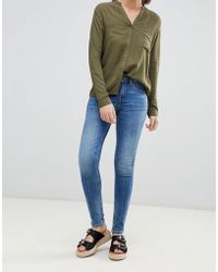 Blend She - Bright Panelled Skinny Jeans - Lyst