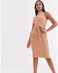 River Island Светло-коричневое Платье В Стиле Милитари С Поясом -коричневый