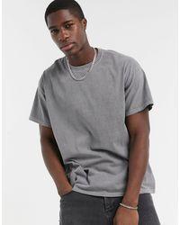 New Look Серая Окрашенная Oversized-футболка -серый