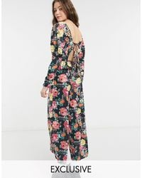 Reclaimed (vintage) Inspired Jumpsuit With Tie Back - Black