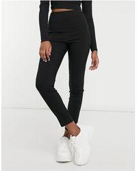 Miss Selfridge Bengaline leggings - Black