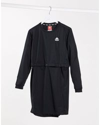 Kappa Long Sleeve T-shirt Dress - Black