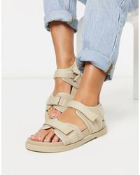 Monki Misha Sporty Sandals - Natural