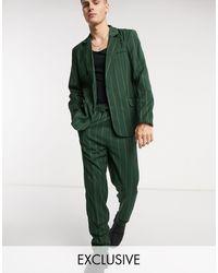 Reclaimed (vintage) Зеленые Брюки В Тонкую Полоску Inspired-зеленый