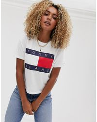 Tommy Hilfiger Flag T-shirt - White