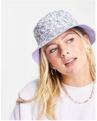 Pieces Bucket Hat - Multicolour