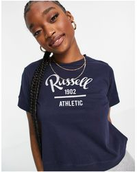 Russell Athletic – kurzes t-shirt - Blau