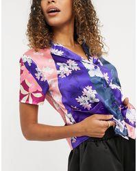 Liquorish Nightwear Pyjama Top - Multicolour