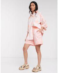 Weekday Wanda Tie-dye Relaxed Shorts - Orange