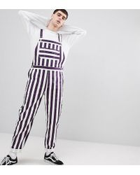 Reclaimed (vintage) - Inspired Stripe Dungaree - Lyst